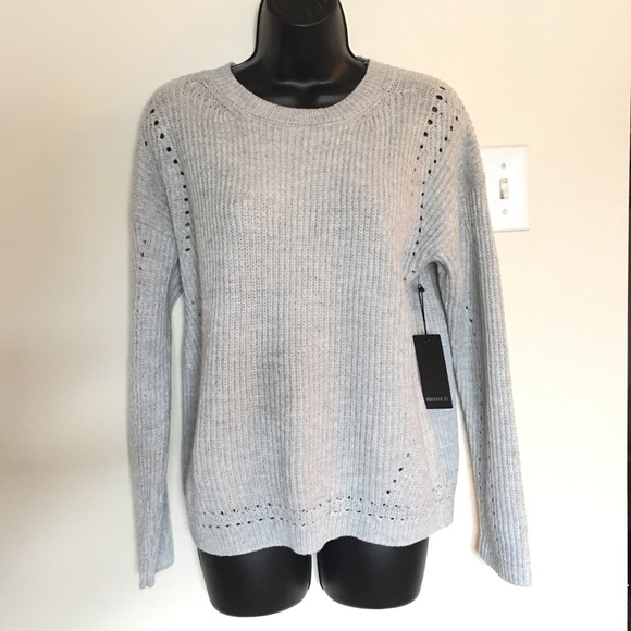 Forever 21 Sweaters Womens Heather Grey Long Sleeve Sweater Poshmark
